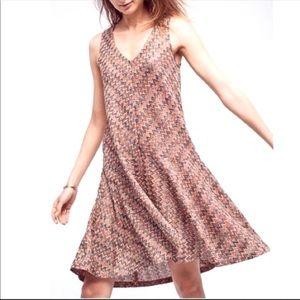 Maeve Anthropologie Chevron Print Dress